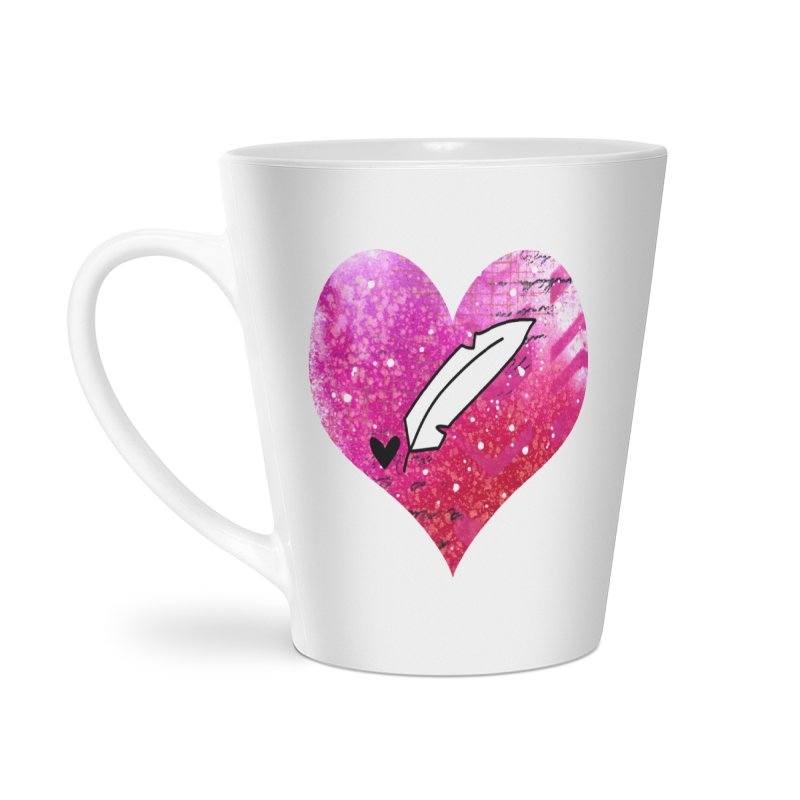 I Heart Inkie - Pink Accessories Latte Mug by Inkie Quill Shop