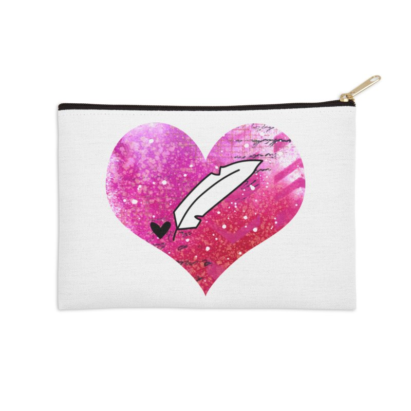 I Heart Inkie - Pink Accessories Zip Pouch by Inkie Quill Shop