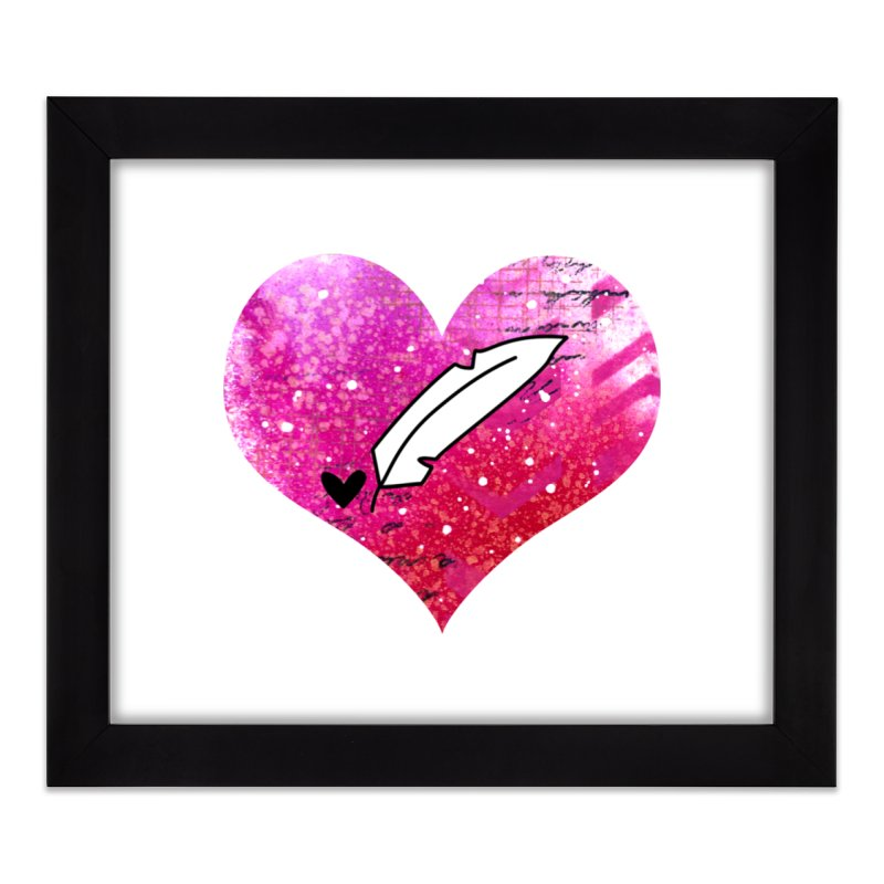 I Heart Inkie - Pink Home Framed Fine Art Print by Inkie Quill Shop