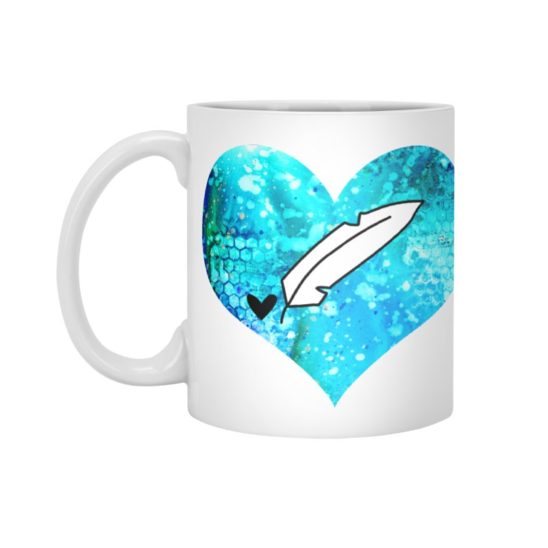 I Heart Inkie - Blue Accessories Standard Mug by Inkie Quill Shop
