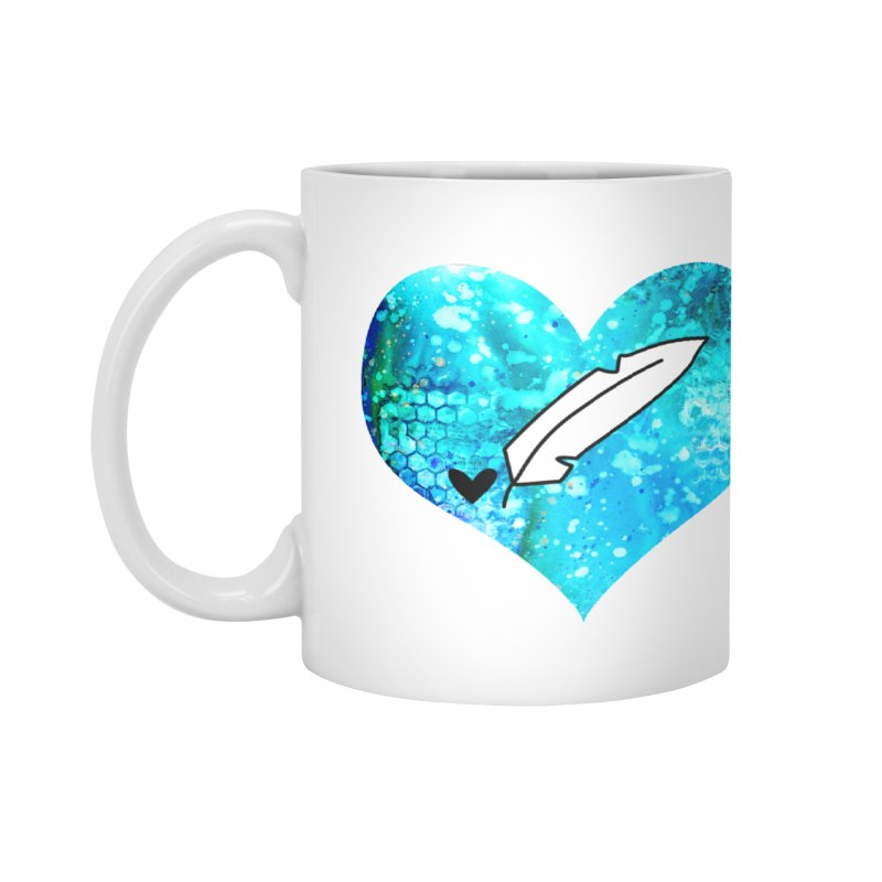 I Heart Inkie - Blue Accessories Mug by Inkie Quill Shop