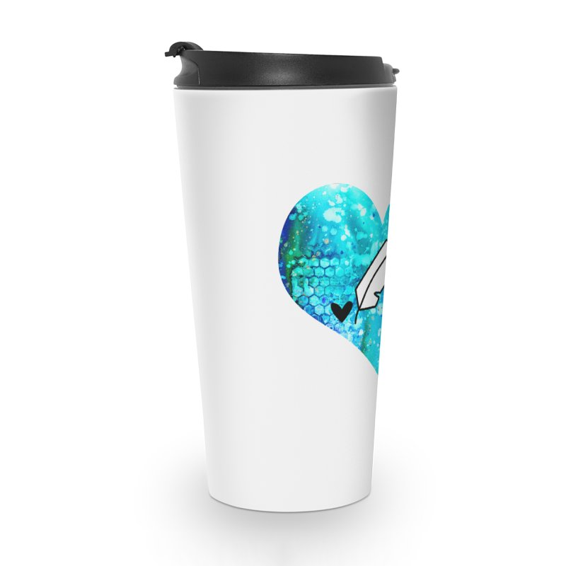 I Heart Inkie - Blue Accessories Travel Mug by Inkie Quill Shop