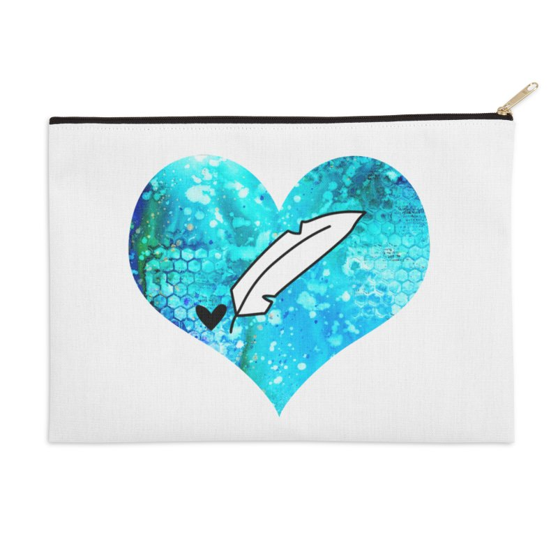 I Heart Inkie - Blue Accessories Zip Pouch by Inkie Quill Shop