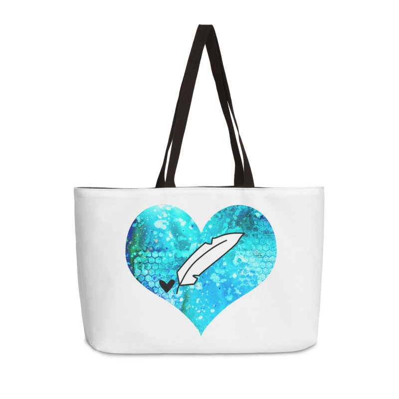I Heart Inkie - Blue Accessories Weekender Bag Bag by Inkie Quill Shop
