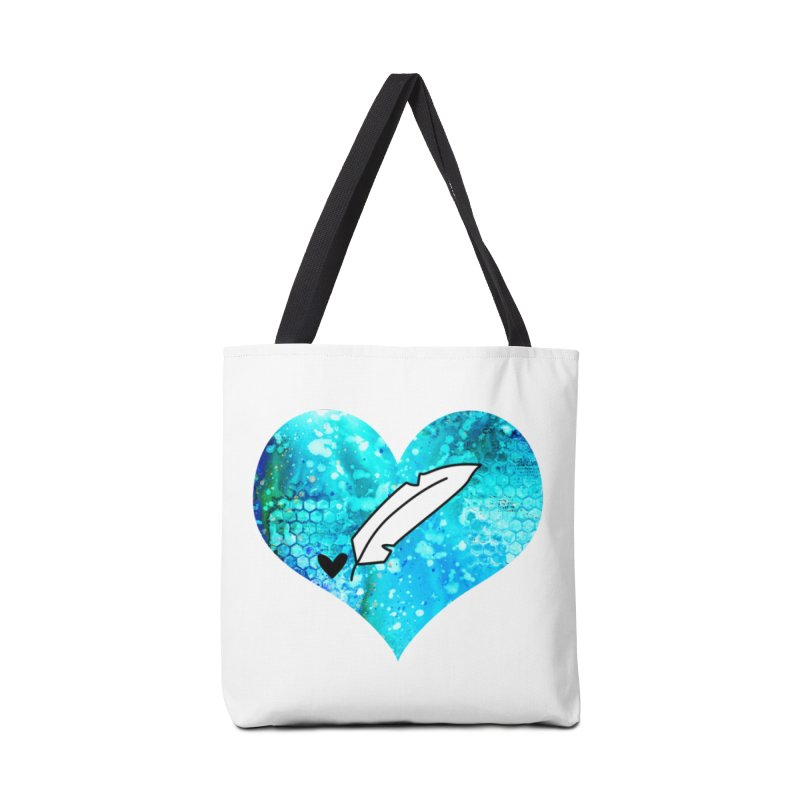 I Heart Inkie - Blue Accessories Tote Bag Bag by Inkie Quill Shop