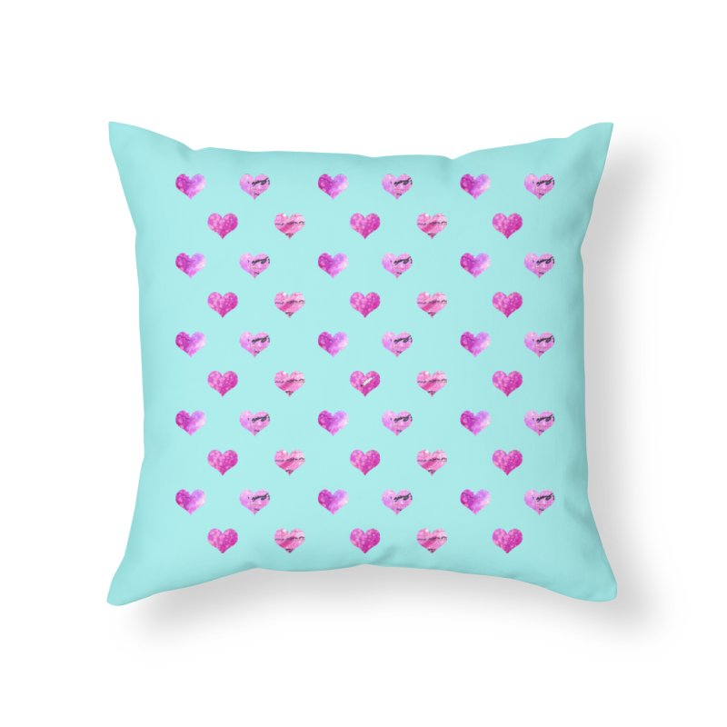 Lots of Love Home Throw Pillow by Inkie Quill Shop