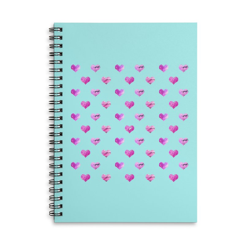Lots of Love Accessories Lined Spiral Notebook by Inkie Quill Shop