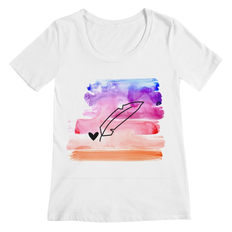 Coloured Ink Women's Regular Scoop Neck by Inkie Quill Shop