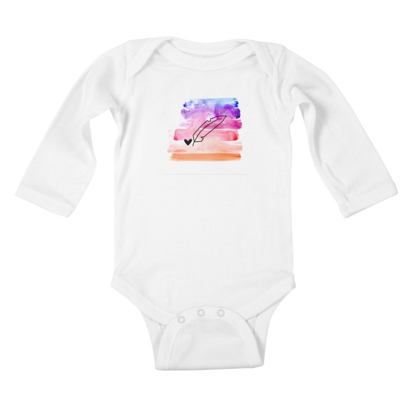 Coloured Ink Kids Baby Longsleeve Bodysuit by Inkie Quill Shop