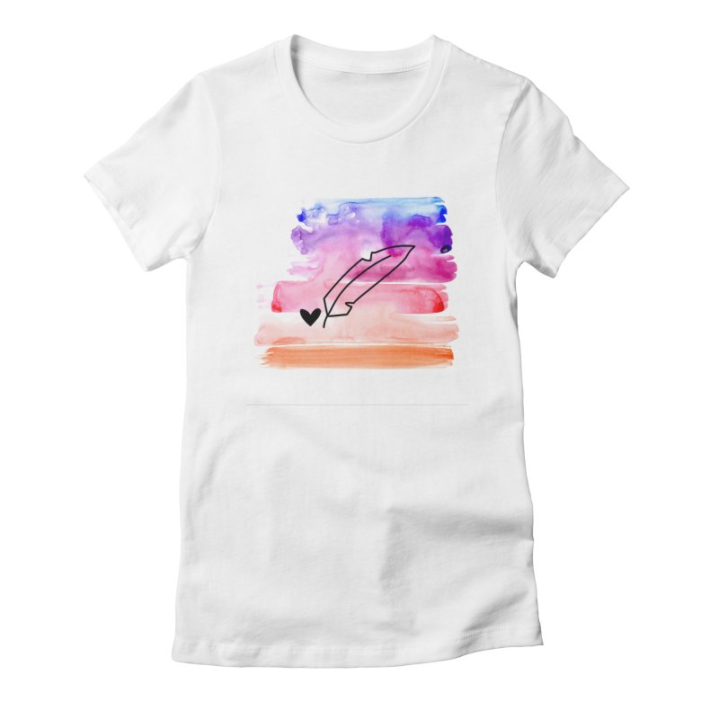 Coloured Ink Women's Fitted T-Shirt by Inkie Quill Shop