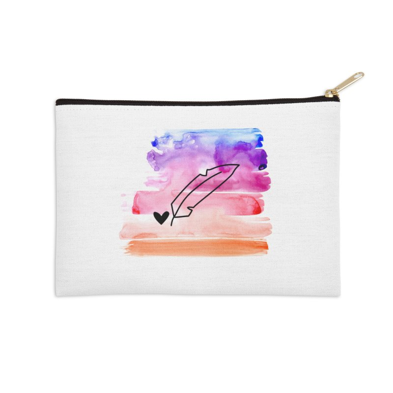 Coloured Ink Accessories Zip Pouch by Inkie Quill Shop