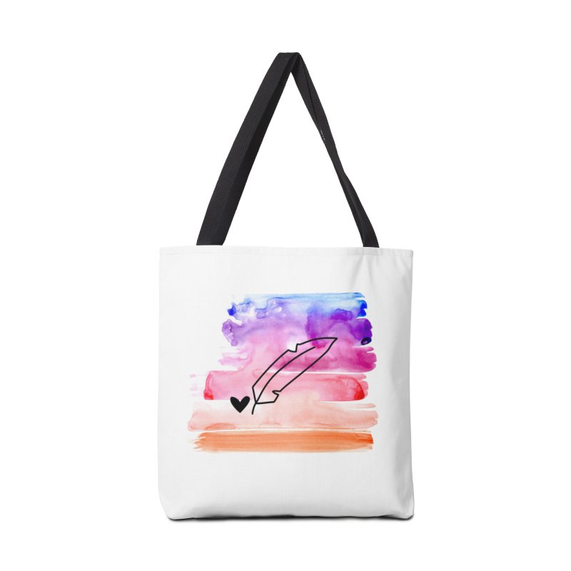 Coloured Ink Accessories Tote Bag Bag by Inkie Quill Shop