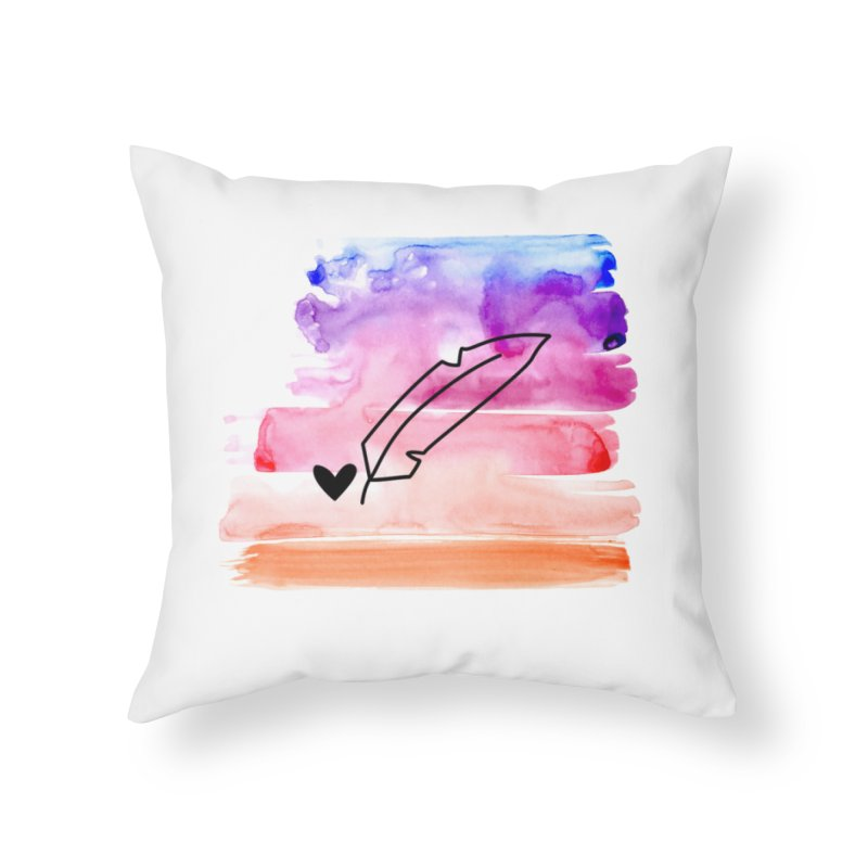 Coloured Ink Home Throw Pillow by Inkie Quill Shop