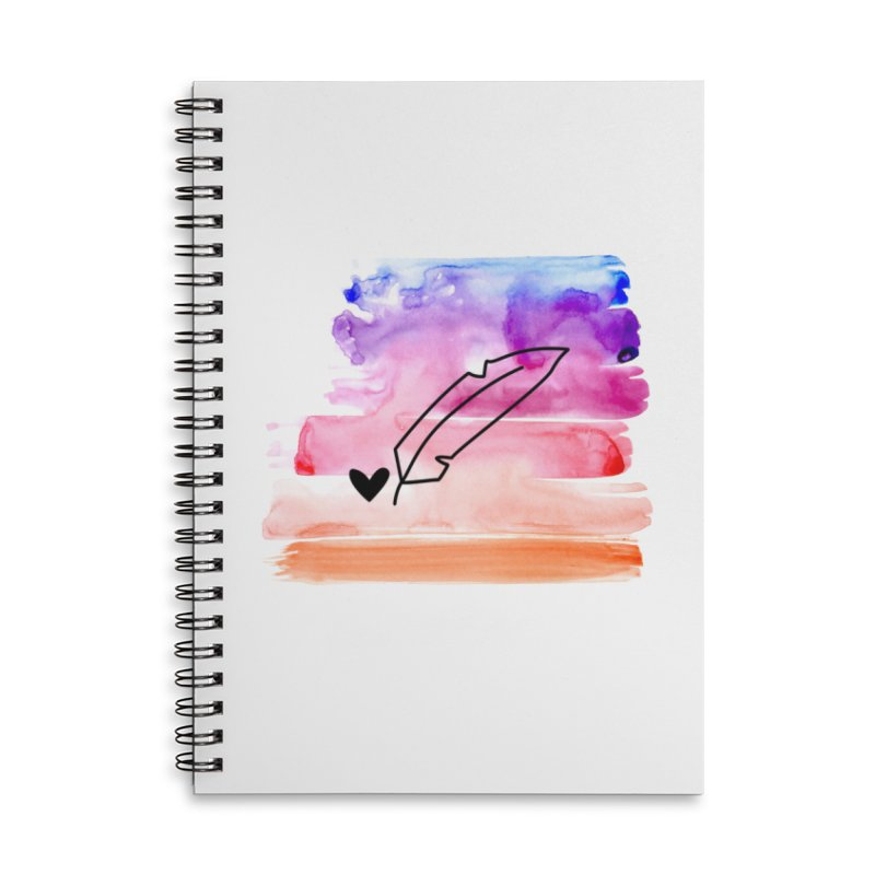 Coloured Ink Accessories Lined Spiral Notebook by Inkie Quill Shop