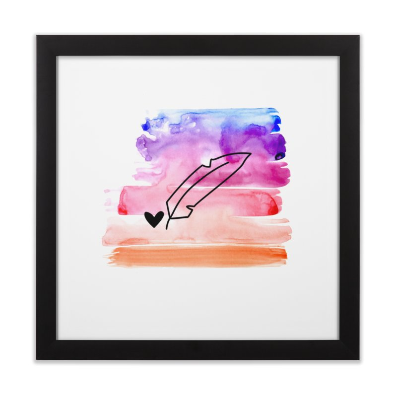 Coloured Ink Home Framed Fine Art Print by Inkie Quill Shop