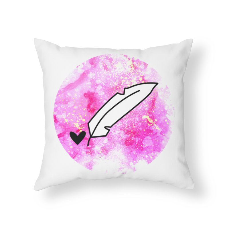 Inkie Shine Home Throw Pillow by Inkie Quill Shop