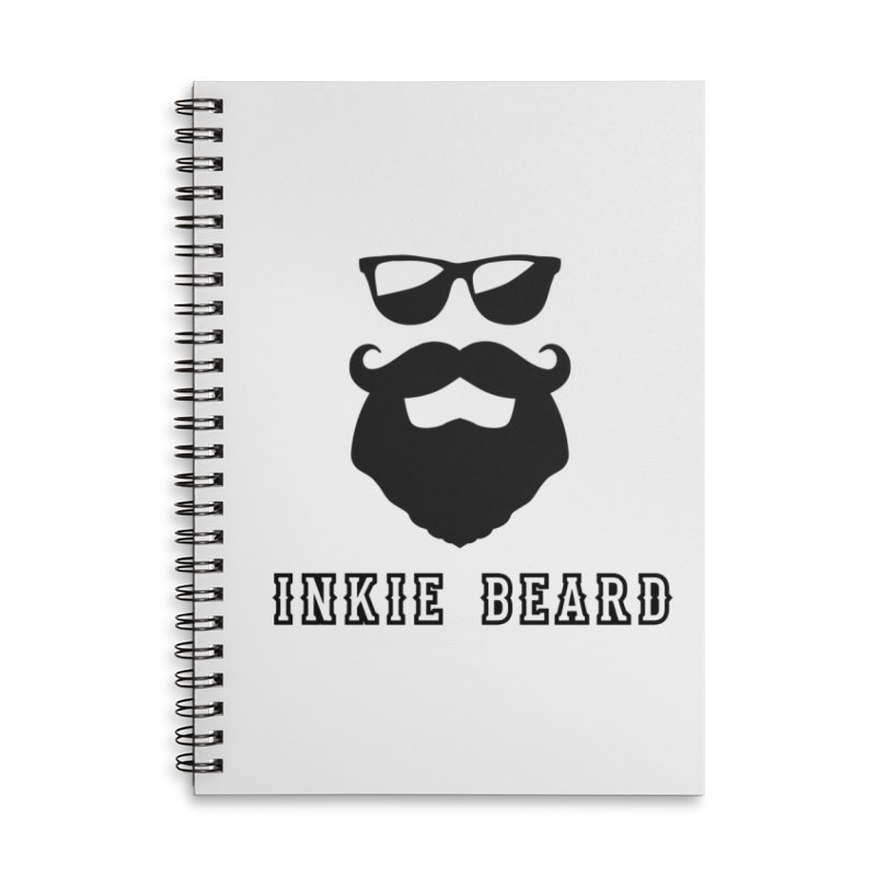 Inkie Beard Classic Accessories Lined Spiral Notebook by Inkie Quill Shop