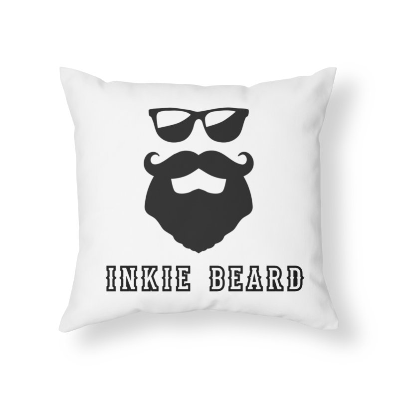 Inkie Beard Classic Home Throw Pillow by Inkie Quill Shop