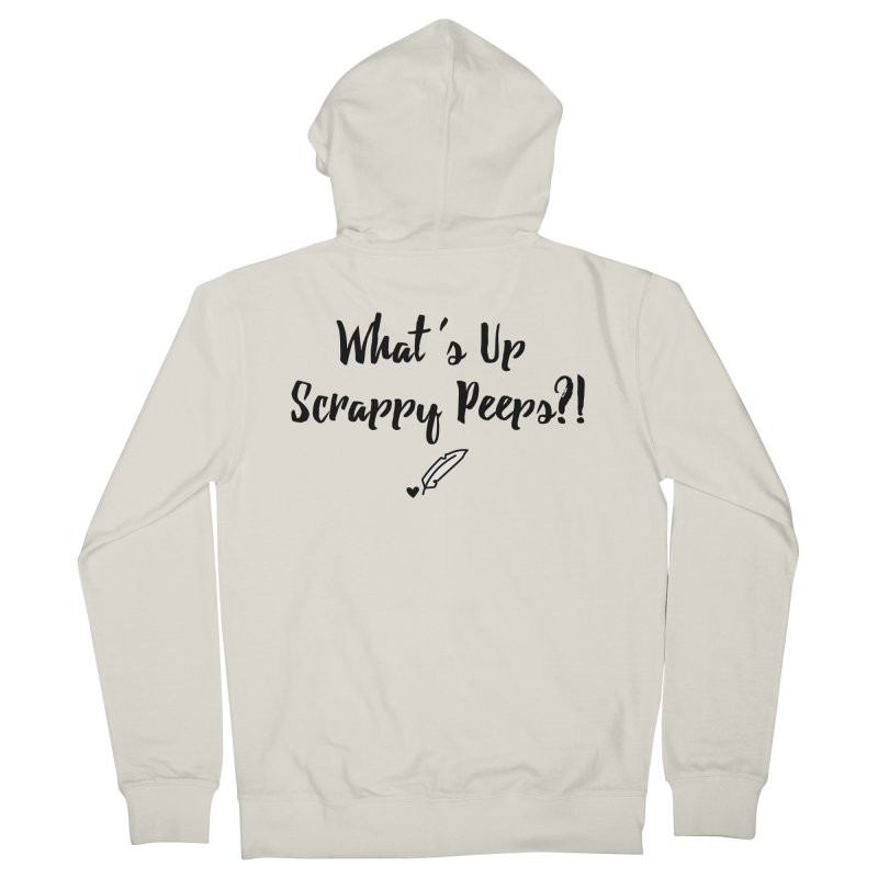 What's Up Scrappy Peeps #1 Women's French Terry Zip-Up Hoody by Inkie Quill Shop