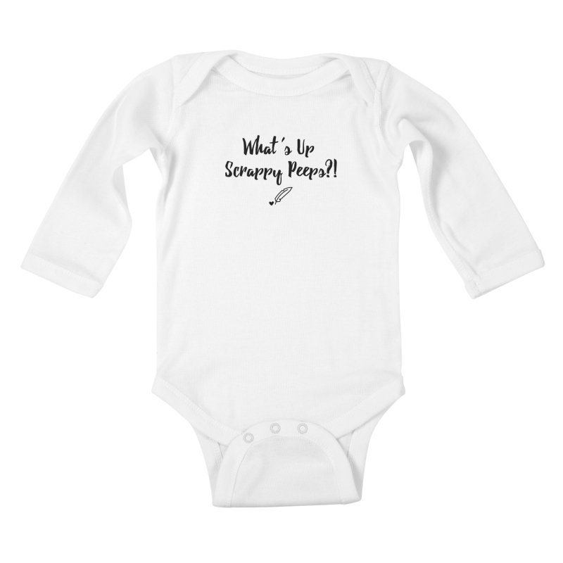 What's Up Scrappy Peeps #1 Kids Baby Longsleeve Bodysuit by Inkie Quill Shop