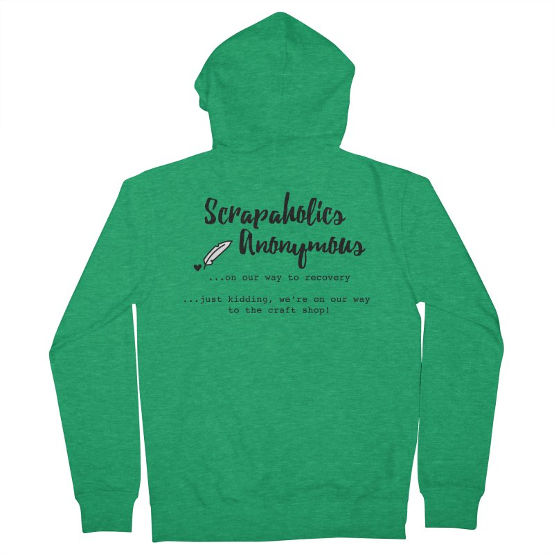 Scrapaholics Anonymous #1 Men's French Terry Zip-Up Hoody by Inkie Quill Shop