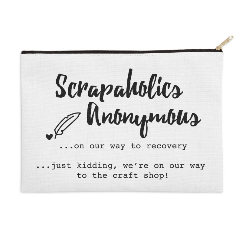 Scrapaholics Anonymous #1 Accessories Zip Pouch by Inkie Quill Shop
