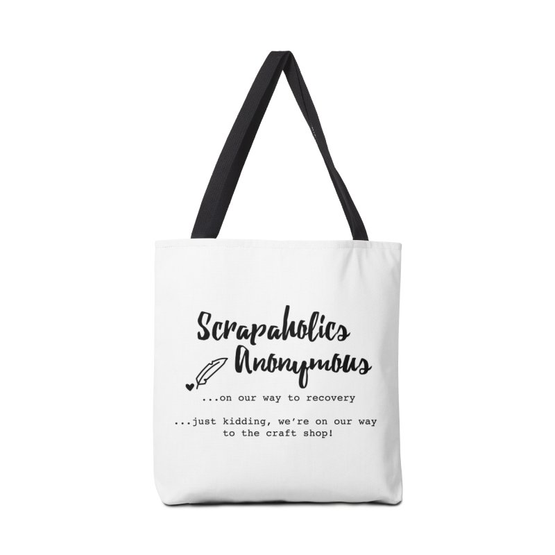 Scrapaholics Anonymous #1 Accessories Tote Bag Bag by Inkie Quill Shop