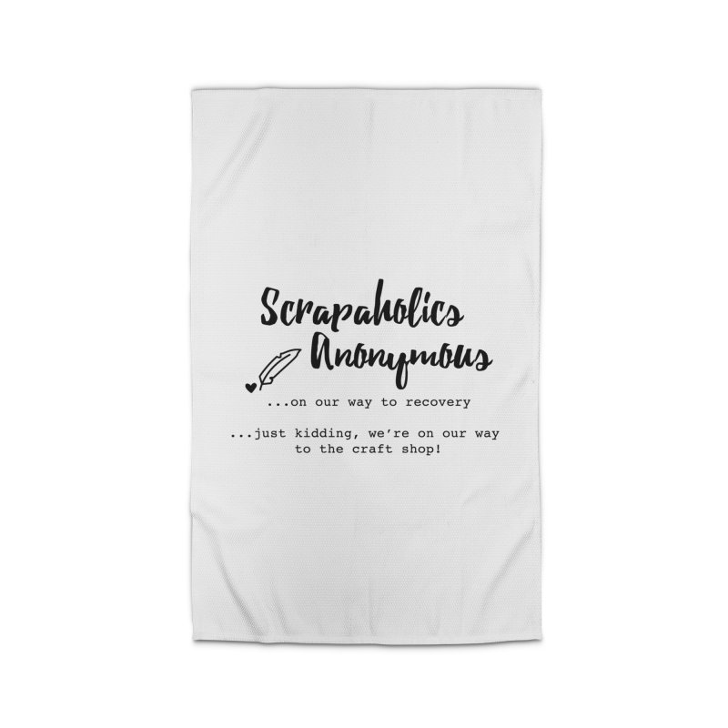 Scrapaholics Anonymous #1 Home Rug by Inkie Quill Shop