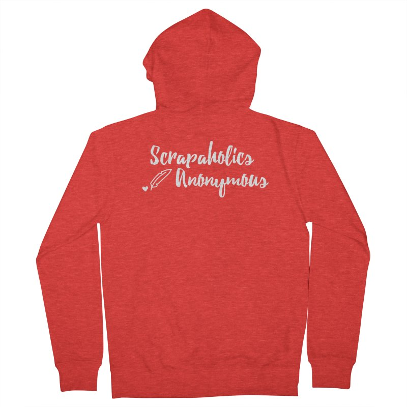 Scrapaholics Anonymous #2 Men's Zip-Up Hoody by Inkie Quill Shop