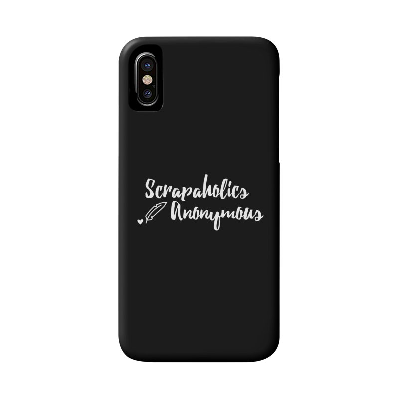 Scrapaholics Anonymous #2 Accessories Phone Case by Inkie Quill Shop