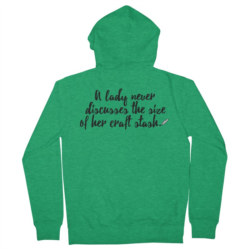Size of Her Stash Women's Zip-Up Hoody by Inkie Quill Shop