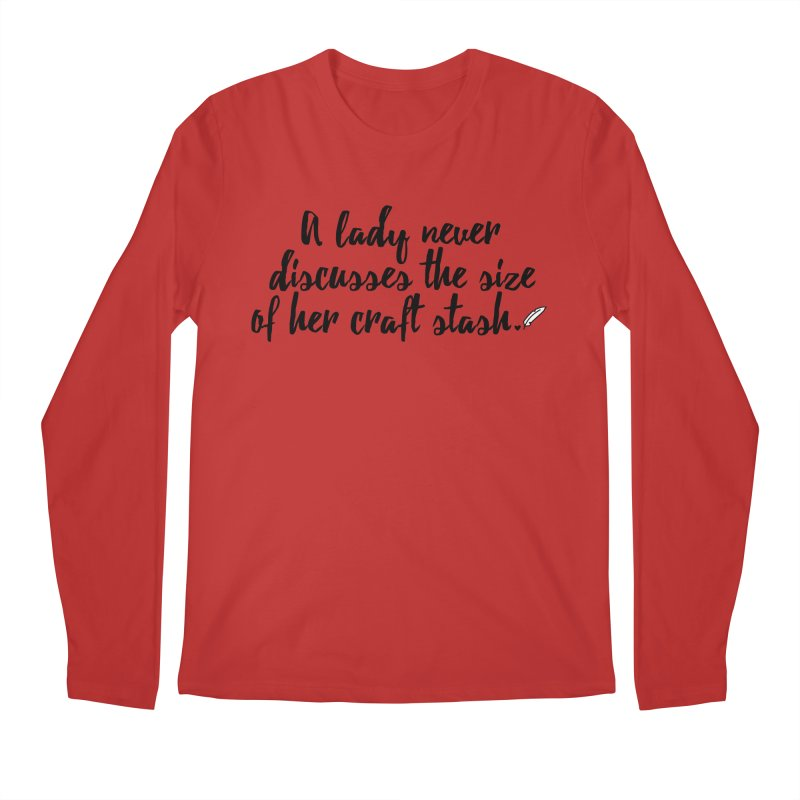 Size of Her Stash Men's Regular Longsleeve T-Shirt by Inkie Quill Shop