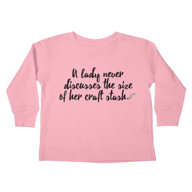 Size of Her Stash Kids Toddler Longsleeve T-Shirt by Inkie Quill Shop