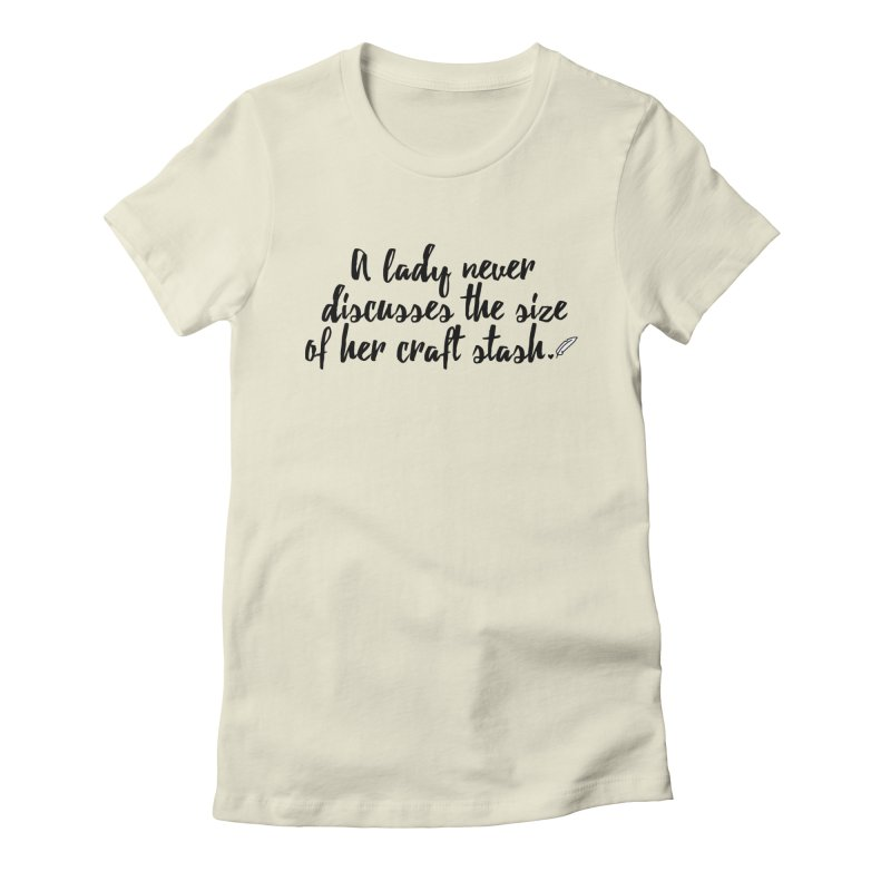 Size of Her Stash Women's Fitted T-Shirt by Inkie Quill Shop