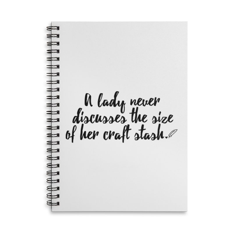 Size of Her Stash Accessories Notebook by Inkie Quill Shop
