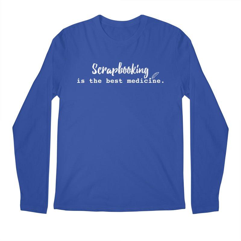 Scrapbooking is the Best Medicine Men's Regular Longsleeve T-Shirt by Inkie Quill Shop