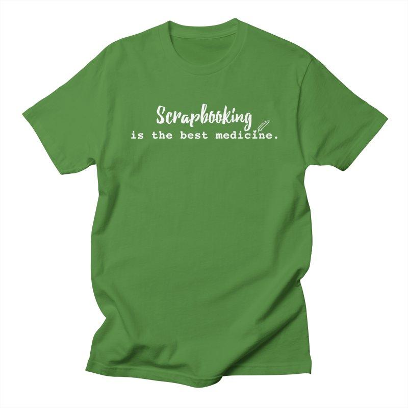Scrapbooking is the Best Medicine Men's Regular T-Shirt by Inkie Quill Shop