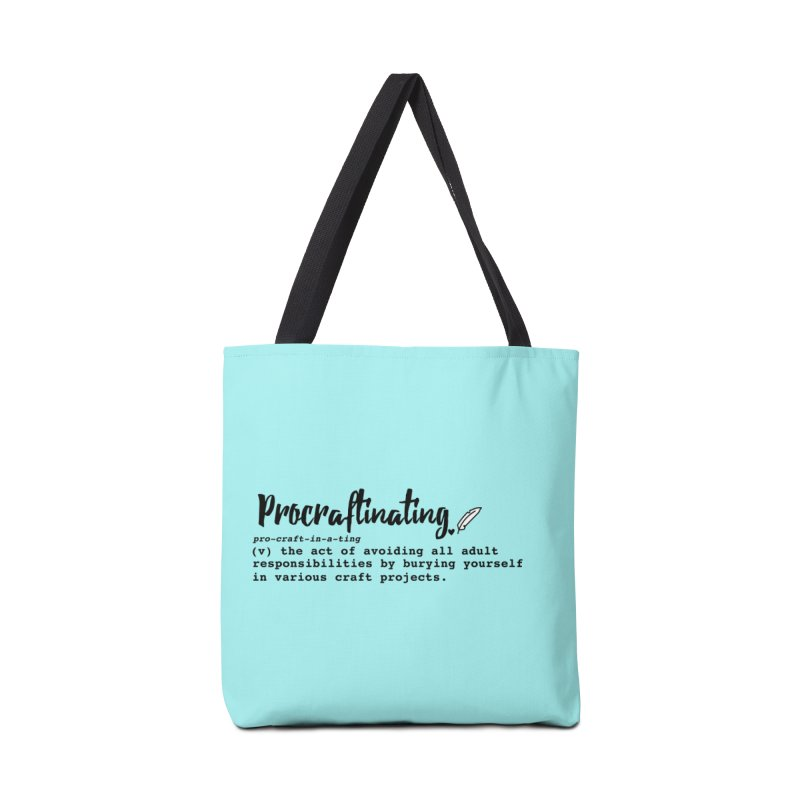 Procraftinating Accessories Tote Bag Bag by Inkie Quill Shop