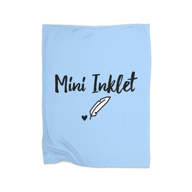 Mini Inklet ~ Kids Only Home Fleece Blanket Blanket by Inkie Quill Shop