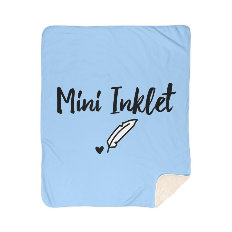 Mini Inklet ~ Kids Only Home Sherpa Blanket Blanket by Inkie Quill Shop