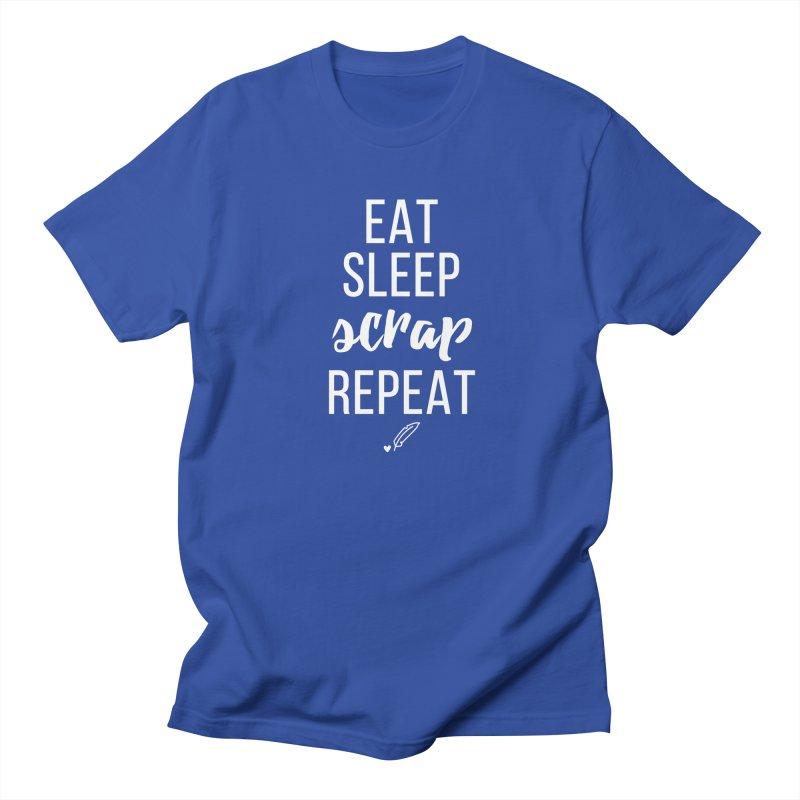 Eat Sleep Scrap Repeat Men's Regular T-Shirt by Inkie Quill Shop