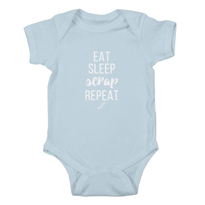 Eat Sleep Scrap Repeat Kids Baby Bodysuit by Inkie Quill Shop