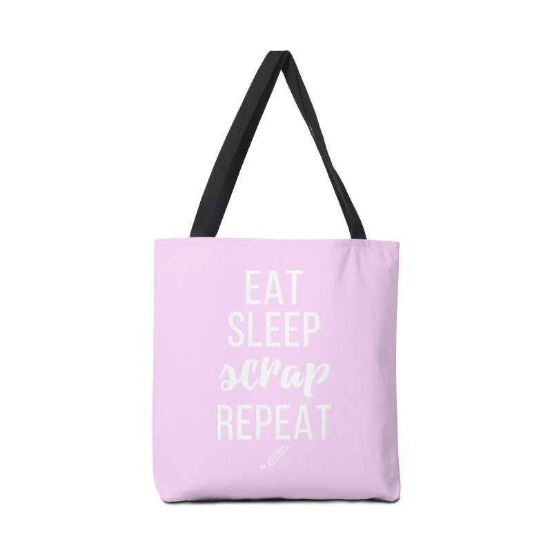 Eat Sleep Scrap Repeat Accessories Tote Bag Bag by Inkie Quill Shop