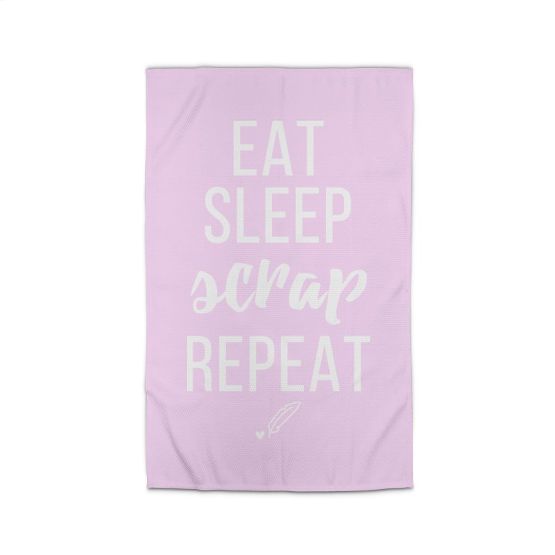 Eat Sleep Scrap Repeat Home Rug by Inkie Quill Shop