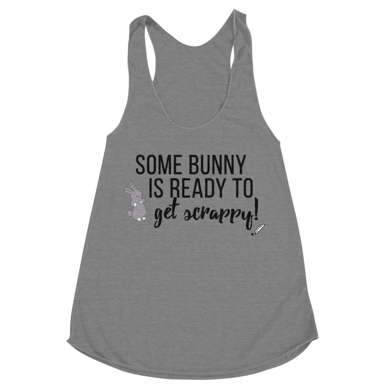 Some Bunny  Women's Racerback Triblend Tank by Inkie Quill Shop