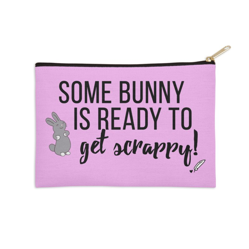 Some Bunny  Accessories Zip Pouch by Inkie Quill Shop