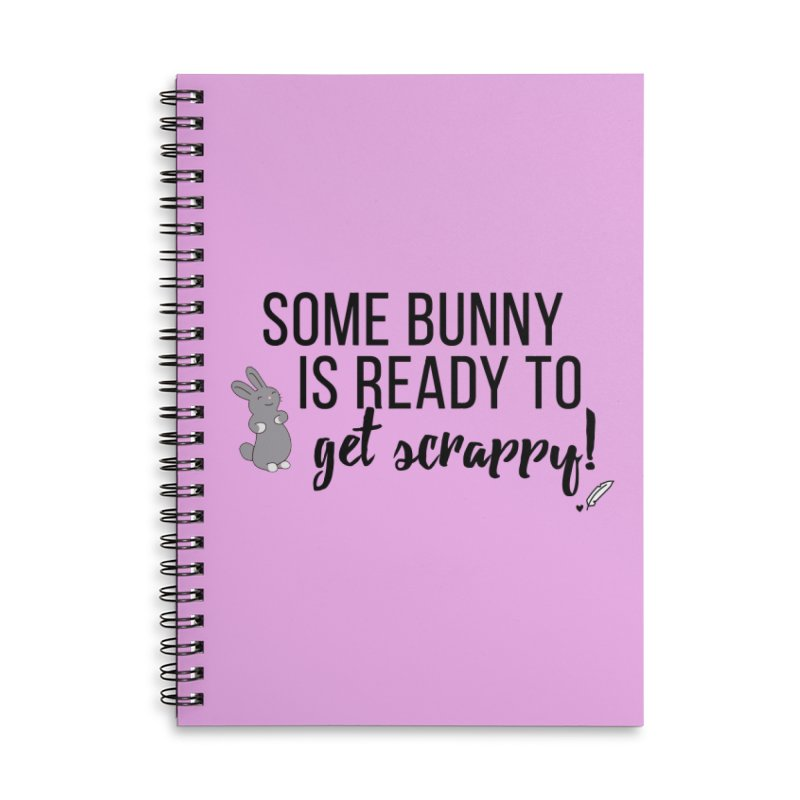 Some Bunny  Accessories Lined Spiral Notebook by Inkie Quill Shop