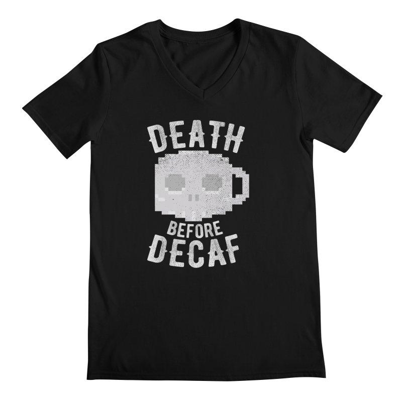 Death before Decaf Men's Regular V-Neck by inkmark outpost