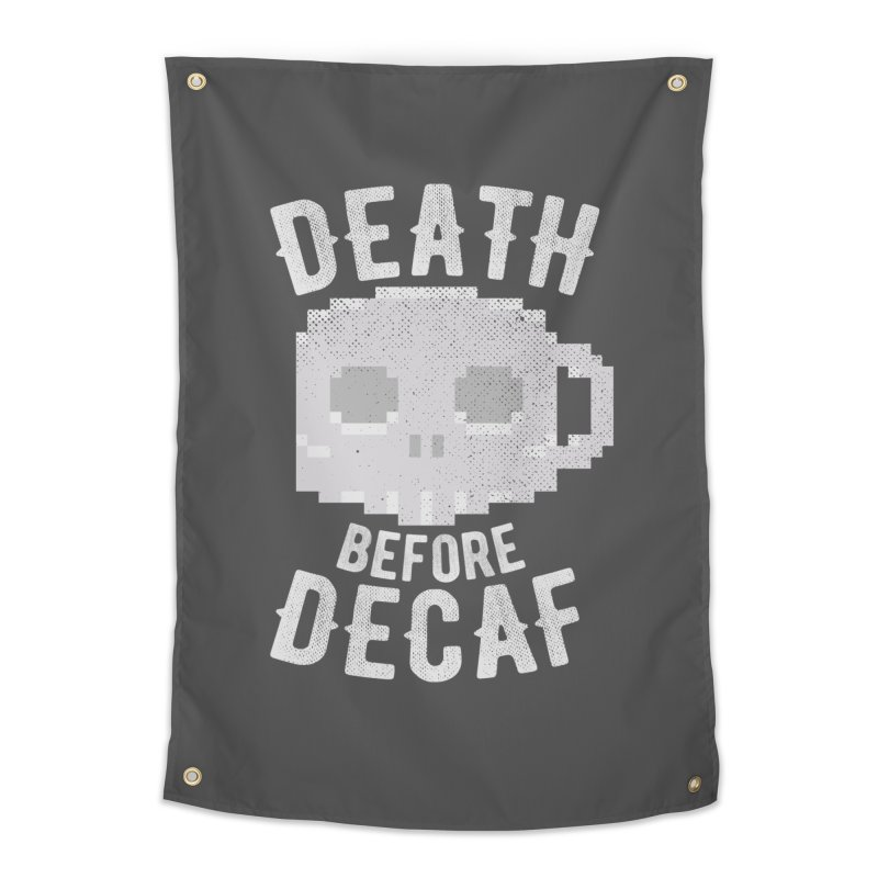 Death before Decaf Home Tapestry by inkmark outpost