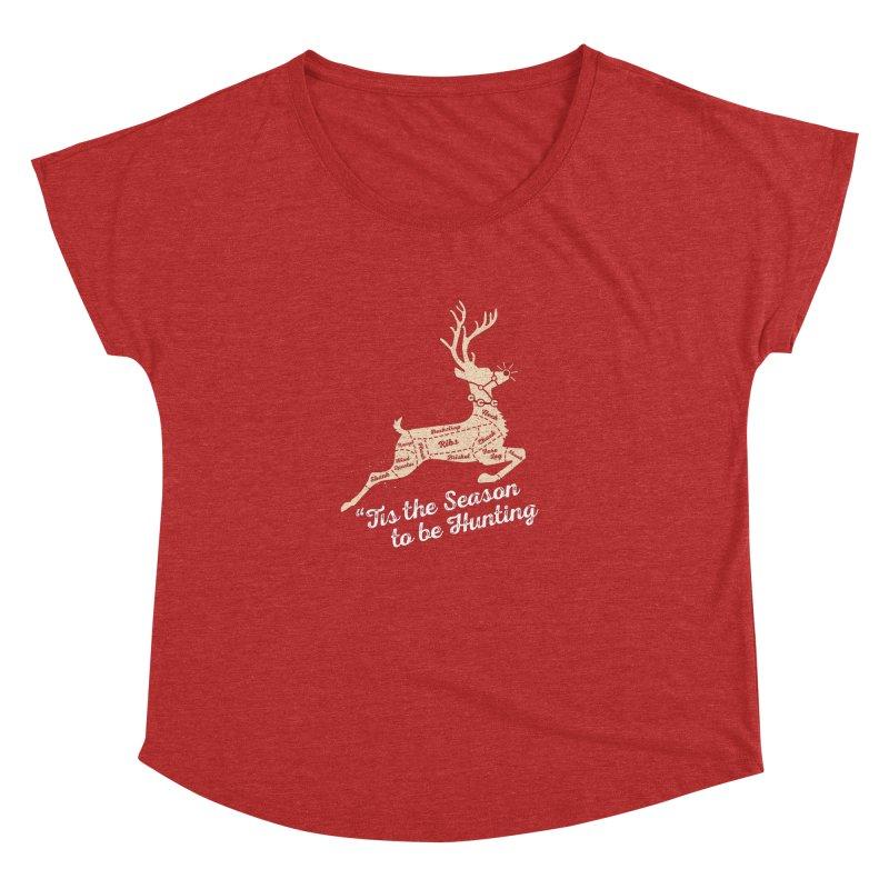 Deer Season Women's Dolman Scoop Neck by inkmark outpost